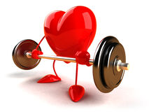 Bodybuilding heart Stock Images