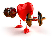 Bodybuilding heart Stock Photos
