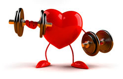 Bodybuilding heart Royalty Free Stock Photography