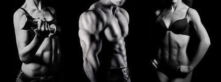 Bodybuilding. Homme et femme photos stock