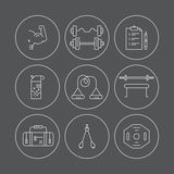 Bodybuilding Icons Royalty Free Stock Photos