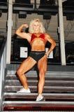 bodybuilding kobieta Fotografia Royalty Free