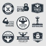 Bodybuilding Label Set Royalty Free Stock Photography