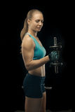 Bodybuilding lady Royalty Free Stock Photography