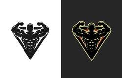 Bodybuilding, logo, dwa opci Zdjęcia Stock