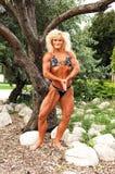 bodybuilding lokaci kobieta Zdjęcia Royalty Free