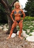 bodybuilding lokaci kobieta Fotografia Royalty Free