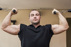 Bodybuilding man Stock Photo