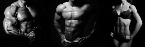 bodybuilding Man en Vrouw stock afbeelding