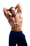 Bodybuilding. Man and his powerful body Royalty Free Stock Photography