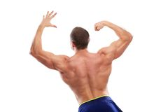 Bodybuilding. Man and his powerful body Royalty Free Stock Photos