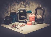 Bodybuilding nutrition Royalty Free Stock Photo