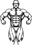 Bodybuilding och Powerlifting - vektor. royaltyfri illustrationer