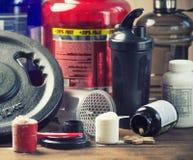 Bodybuilding odżywiania nadprogramy obrazy stock