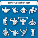 Bodybuilding Polygonal White Royalty Free Stock Photos