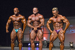 Bodybuilding Posedown ατόμων Στοκ Φωτογραφία