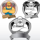 Bodybuilding powerlifting μετάλλιο λεσχών αθλητικού αθλητισμού ικανότητας ατόμων απεικόνιση αποθεμάτων