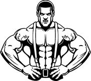 Bodybuilding and Powerlifting - vector. Stock Images