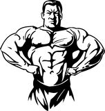 Bodybuilding and Powerlifting - vector. Royalty Free Stock Images