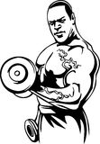 Bodybuilding and Powerlifting - vector. Royalty Free Stock Photos