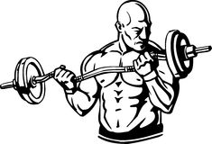 Bodybuilding and Powerlifting - vector. Stock Image