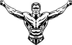 Bodybuilding and Powerlifting - vector. Stock Photo