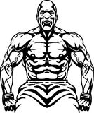 Bodybuilding and Powerlifting - vector. Royalty Free Stock Photography