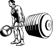 Bodybuilding and Powerlifting - vector. Bodybuilding and Powerlifting - vector illustration royalty free illustration