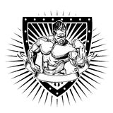 Bodybuilding shield Stock Photos