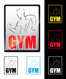 Bodybuilding sign Royalty Free Stock Image