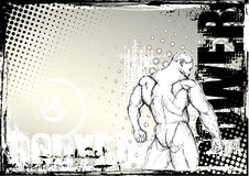 Bodybuilding sketching grunge background 2 Stock Photography