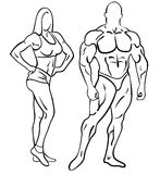 Bodybuilding sprawność fizyczna Obraz Royalty Free