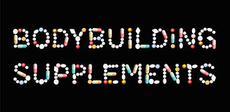 Bodybuilding Supplements Tablets Royalty Free Stock Photography