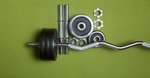 Bodybuilding tools Stock Photo