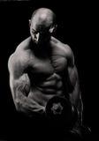 Bodybuilding trening dla bicepsów Fotografia Royalty Free