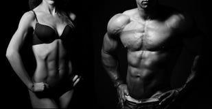 bodybuilding Uomo e donna fotografie stock libere da diritti
