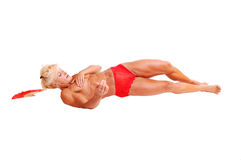 Bodybuilding woman. Royalty Free Stock Image