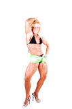 Bodybuilding woman. Royalty Free Stock Images