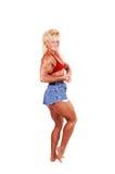 Bodybuilding woman. Royalty Free Stock Photos