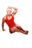 Bodybuilding woman. Royalty Free Stock Photography