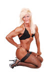 Bodybuilding woman. Stock Photo