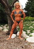 Bodybuilding woman on location. Royalty Free Stock Photography