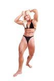 Bodybuildingfrau. Stockbild