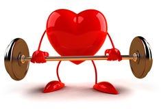 bodybuildinghjärta stock illustrationer