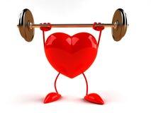 bodybuildinghjärta royaltyfri illustrationer