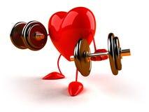 bodybuildinghjärta vektor illustrationer