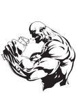 Bodybuildingssupplement vector illustratie