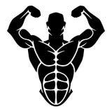 Bodybuildingvektordesign Arkivbilder