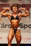 Bodybuiler fêmea Fotos de Stock