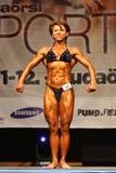 Bodybuiler fêmea Fotografia de Stock
